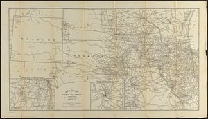 Map sixth division railway mail service