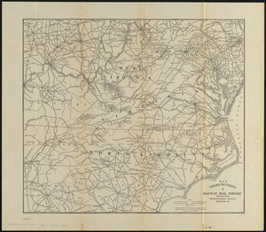 Map third division railway mail service