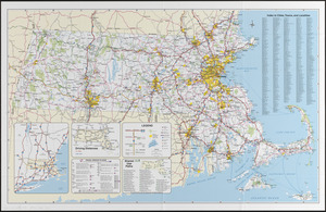 Massachusetts official transportation map