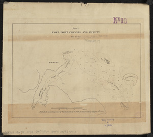 Fort Point Channel and vicinity in 1775