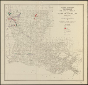Oil and gas fields of the state of Louisiana