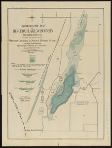 Hydrographic map of Big Cedar Lake, Wisconsin, Washington Co.