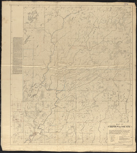 Map of Chippewa County, state of Wisconsin