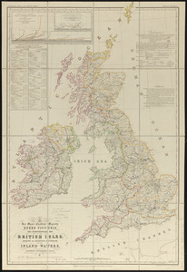 To her most excellent majesty Queen Victoria this hydrographical map of the British Isles, exhibiting the geographical distribution of the inland waters