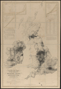 To her most excellent majesty Queen Victoria this map of the British Isles, elucidating the distribution of the population, based on the census of 1841
