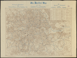 The Builder map of the county of London