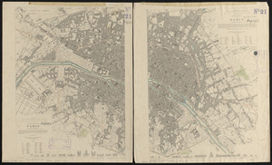Western division of Paris, containing the quartiers; Eastern division of Paris, containing the quartiers