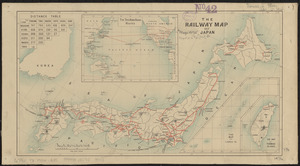 The railway map of Japan