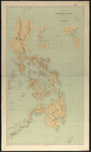 Map of Philippine Islands and adjacent seas