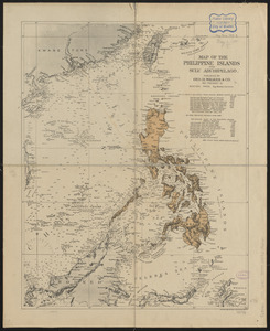 Map of the Philippine Islands and Sulu Archipelago