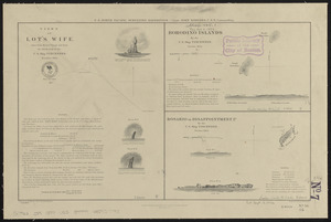 Views of Lot's Wife, taken from Meares' Voyage and from the sketch-book of the U.S. Ship Vincennes, November 1854 ; Borodino Islands by the U.S. Ship Vincennes, October 1854 ; Rosario or Disappointment Id. by the U.S. Ship Vincennes, October 1854