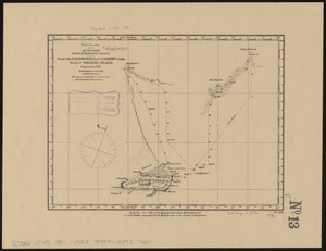 Arctic Ocean, north of Behrings Strait, track of the U.S.S. Rodgers, Lieut. R.M. Berry Comdg., north of Wrangel Island, September 1881