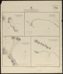 North America, west coast, anchorages in the Gulf of California