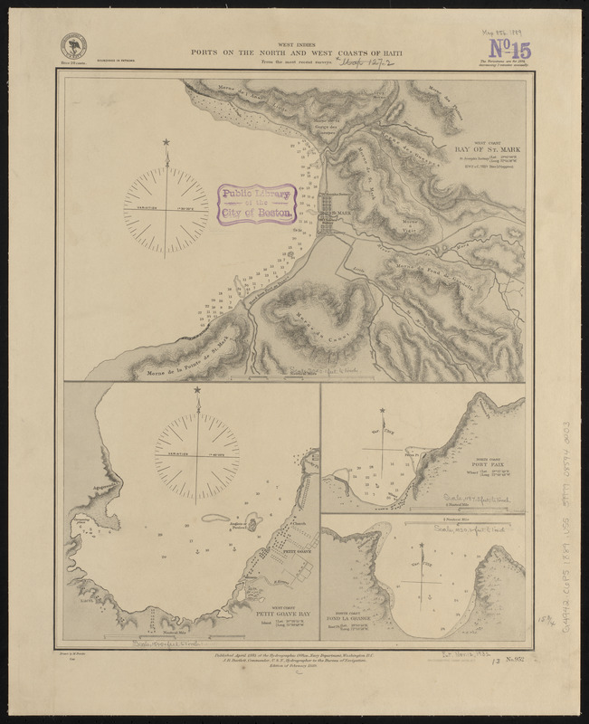 West Indies, ports on the north and west coasts of Haiti