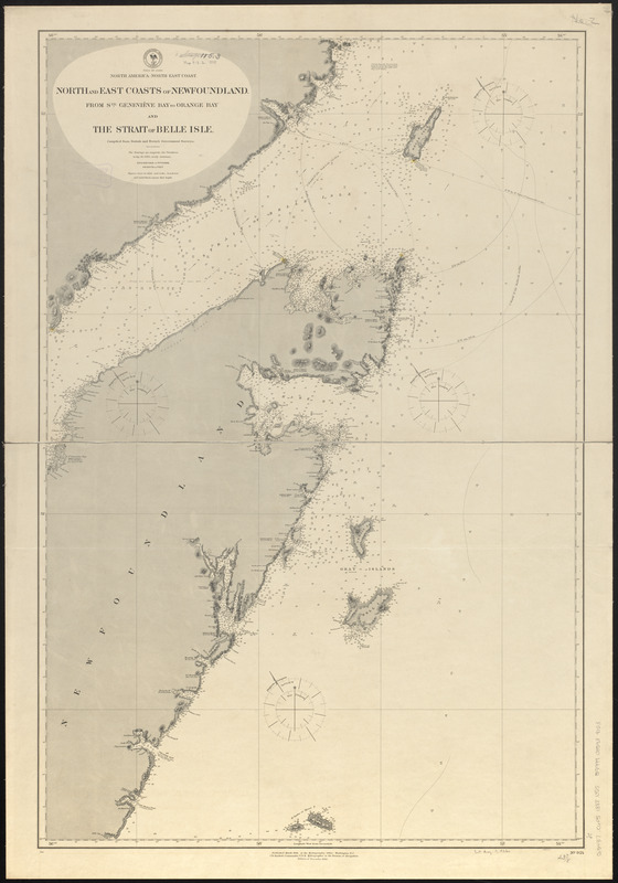 North America North East Coast North And East Coasts Of Newfoundland From Ste Genevieve Bay To Orange Bay And Strait Of Belle Isle Norman B Leventhal Map Education Center