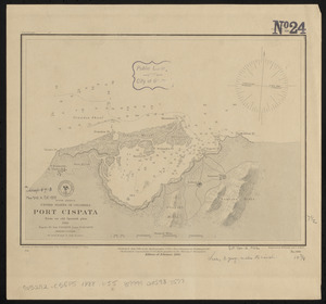 South America, United States of Colombia, Port Cispata, from an old Spanish plan, 1886