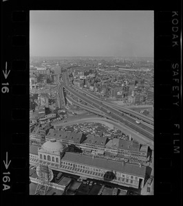 Aerial view of the Central Artery, Boston