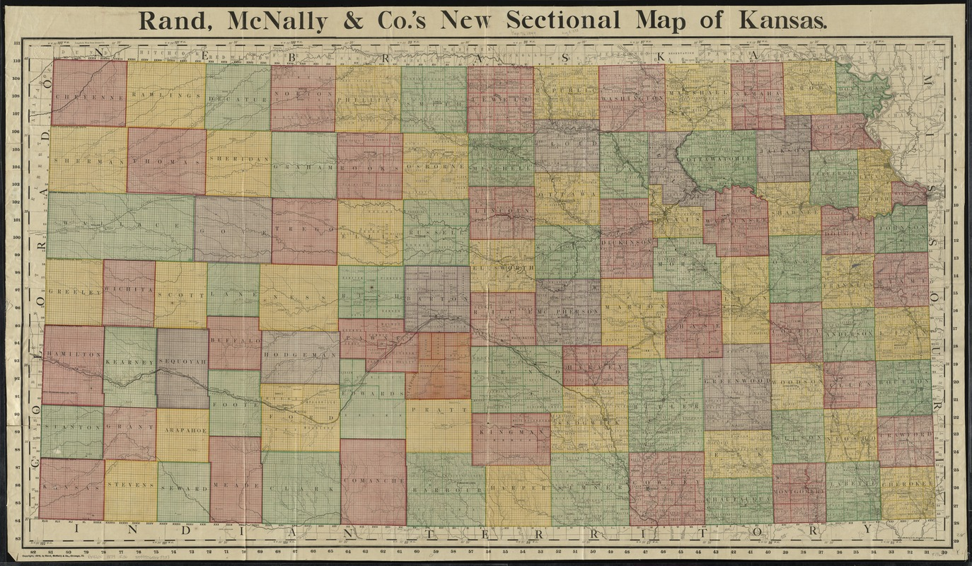 Rand, McNally & Co.'s new sectional map of Kansas