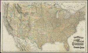 Rand McNally & Co's new railroad and county map of the United States and Dominion of Canada