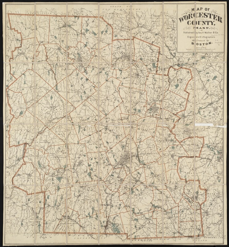 Map of Worcester County, Mass