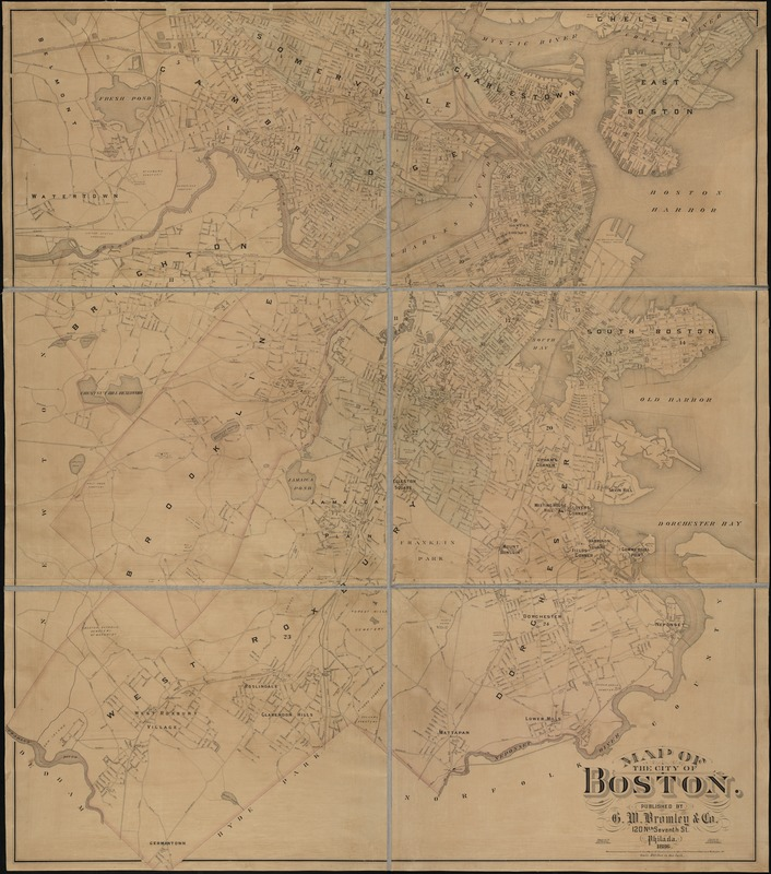Map of the city of Boston