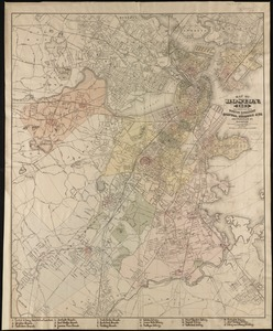 Map of Boston, for 1888
