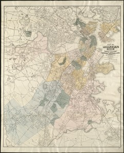 Map of Boston, for 1889