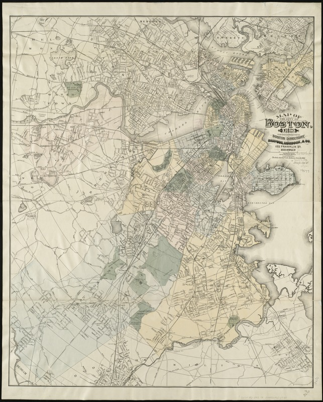 Map of the city of Boston, for 1890