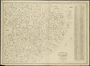 Historical map of the north and central parts of Old Boston