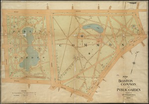 Map of Boston Common and Public Garden
