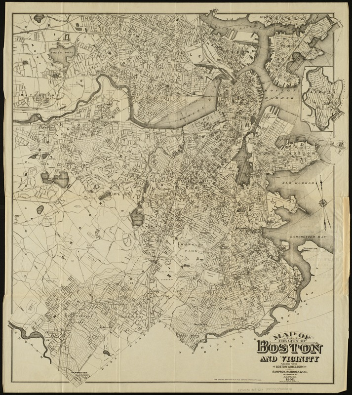 Map of the city of Boston and vicinity
