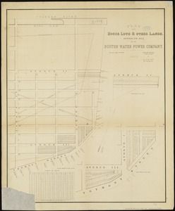 Plan of house lots & other lands offered for sale by the Boston Water Power Company