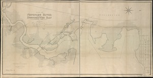 Plan of Neponset River and part of Dorchester Bay showing the harbor lines proposed by the Commissioners 1854