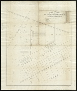 Plan of land on West Chester Park and Huntington Ave. belonging to the Boston Water Power Co