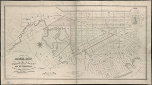 Plan of lands on the Back Bay belonging to the Boston Water Power Co., the Commonwealth and other parthies [i.e. parties], showing the system of streets, grades and sewers as laid out and recommended by the Back Bay Commissioners