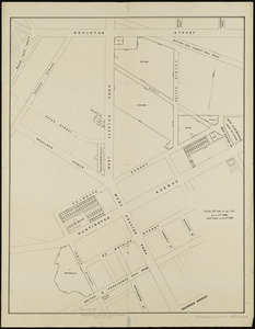 [Plan of lots on Falmouth Street, Boston]