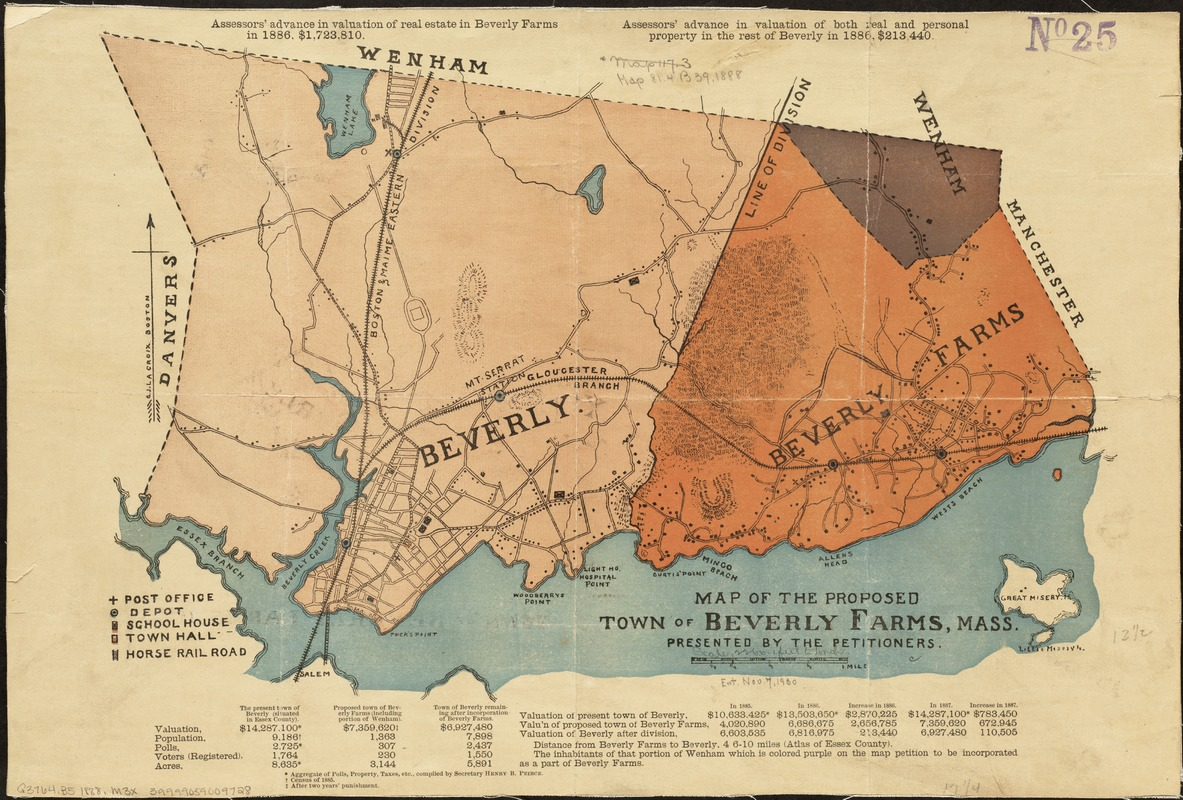 Map of the proposed town of Beverly Farms, Mass