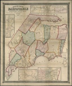 Map of the town of Barnstable, Barnstable County, Mass