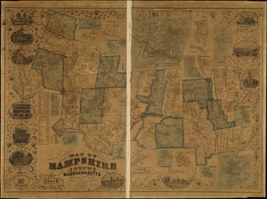 Map of Hampshire County, Massachusetts