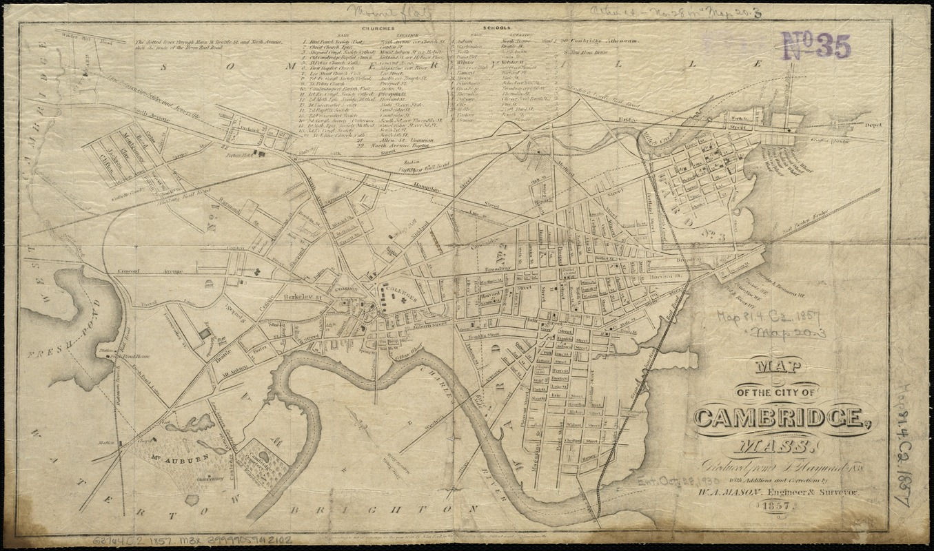 Map of the city of Cambridge, Mass