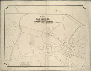 Plan of a part of Cambridge showing the location of the Fayerweather Estate