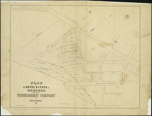 Plan of the hotel estate in Chelsea belonging to the Winnisimmet Company