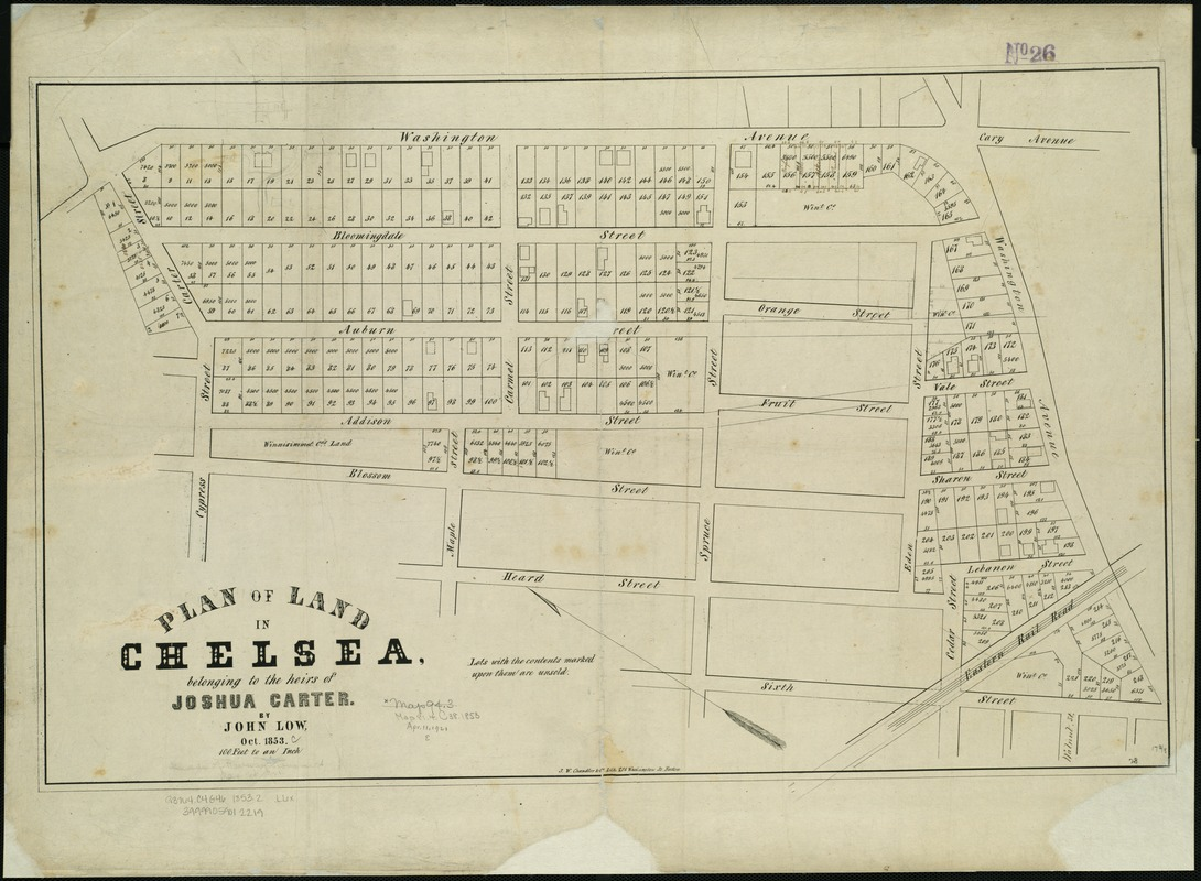Plan of land in Chelsea belonging to the heirs of Joshua Carter