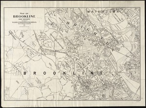 Map of Brookline and vicinity