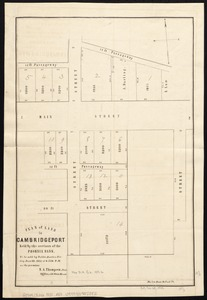 Plan of land in Cambridgeport held by the receivers of the Phoenix Bank