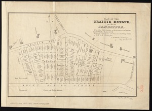 Plan of the Craigie Estate in Cambridge