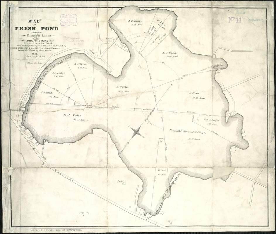 Map of Fresh Pond