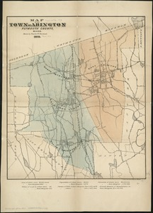 Map of the town of Abington Plymouth County, Mass