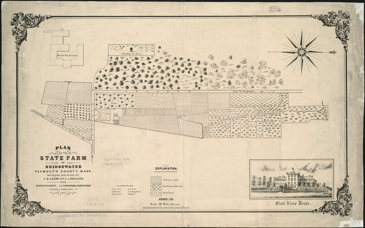 Plan of the state farm at Bridgewater, Plymouth County, Mass