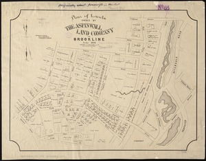 Plan of lands owned by The Aspinwall Land Company in Brookline